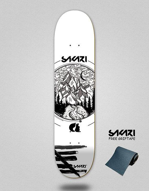 Sakari Mountain special white skate deck