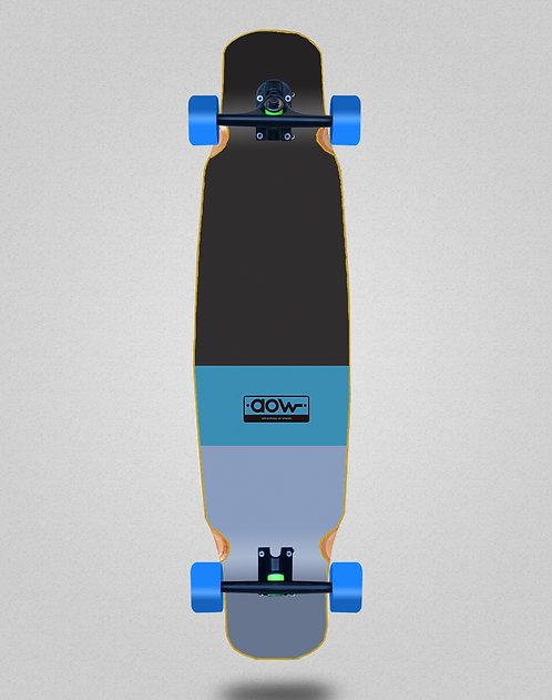 Aow Fastskate classic blue longboard bamboo dance complete 46x9