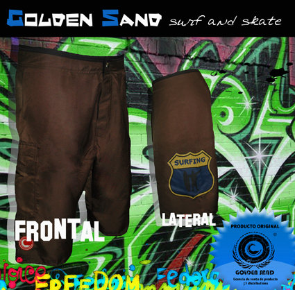 GOLDEN SAND. Boardshort Dessert