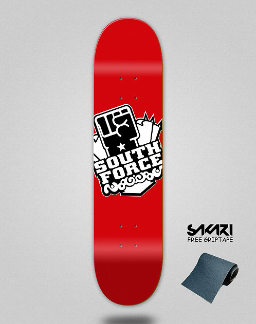 South force skate deck icon red