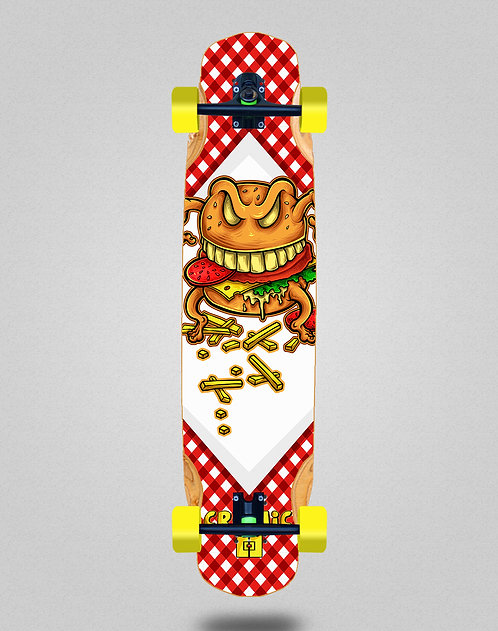 Cromic Burger crazy food longboard complete 38x8.45