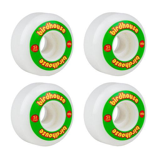 Birdhouse Wheels Logo 99a Rasta 51 MM (set 4)