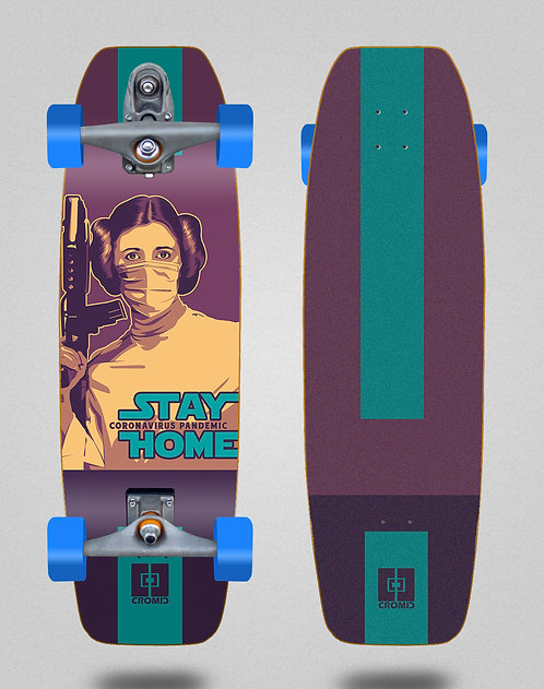 Cromic surfskate T12 trucks C19 Stay home 32 tail nose