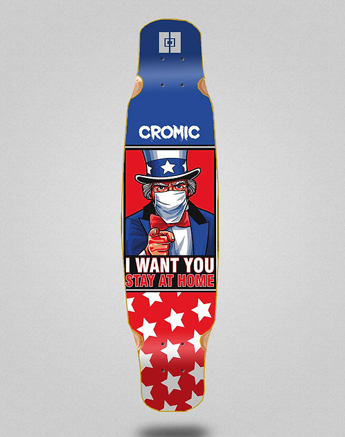 Cromic Covid I want you longboard deck dance 46x9