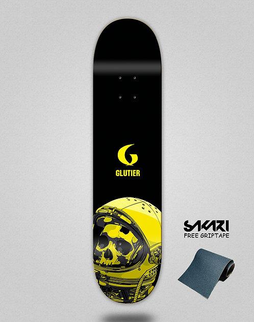 Glutier Space mirror yellow skate deck