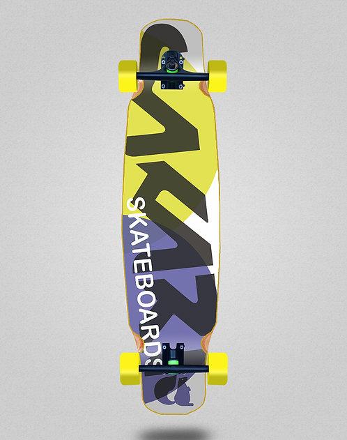 Sakari Fus yellow purple longboard dance complete 46x9