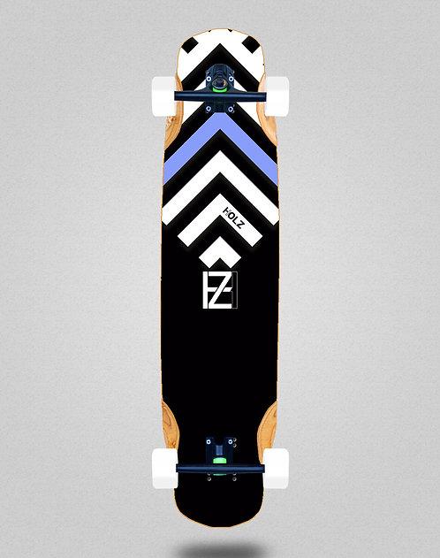 Holz Gram BW Akira black longboard complete 38x8.45