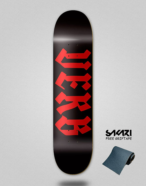 Verb skate deck Calligraphy 8.5 red