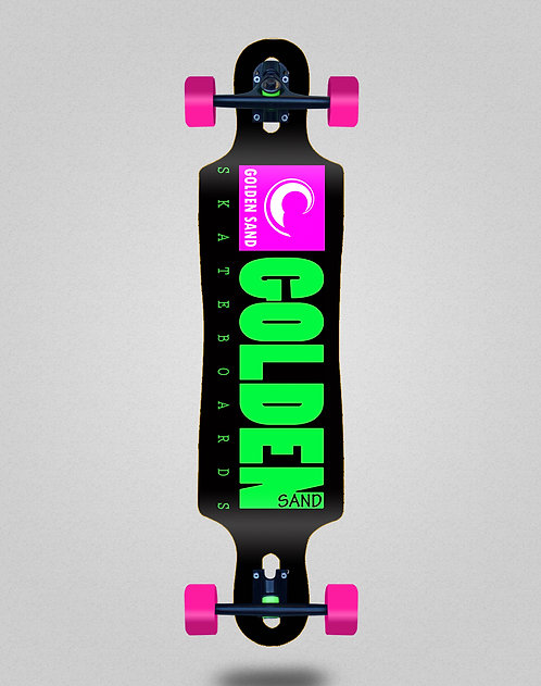 Golden Sand icon black pink longboard complete 40x9
