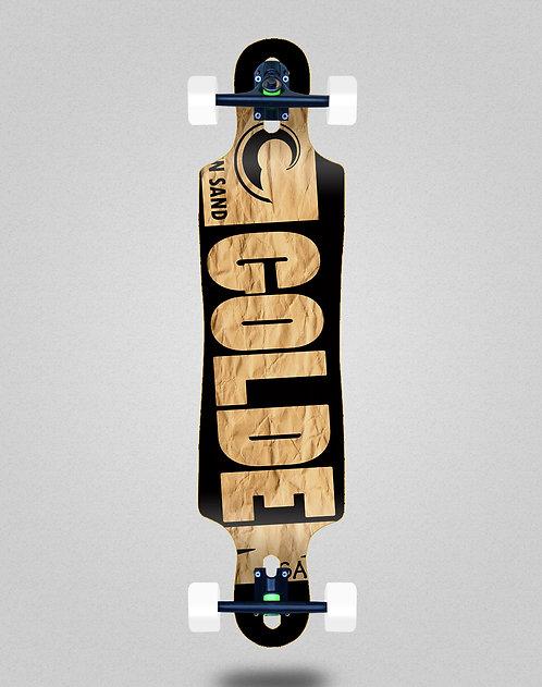 Golden Sand Degraded carton longboard complete 40x9