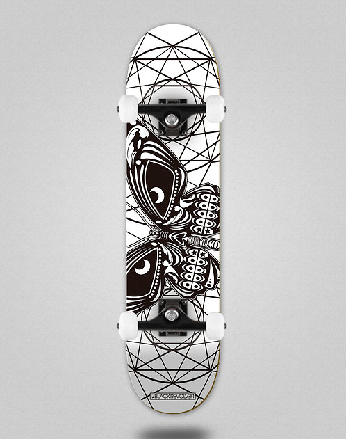 Black Revolver Insecta collective mariposa white skate complete