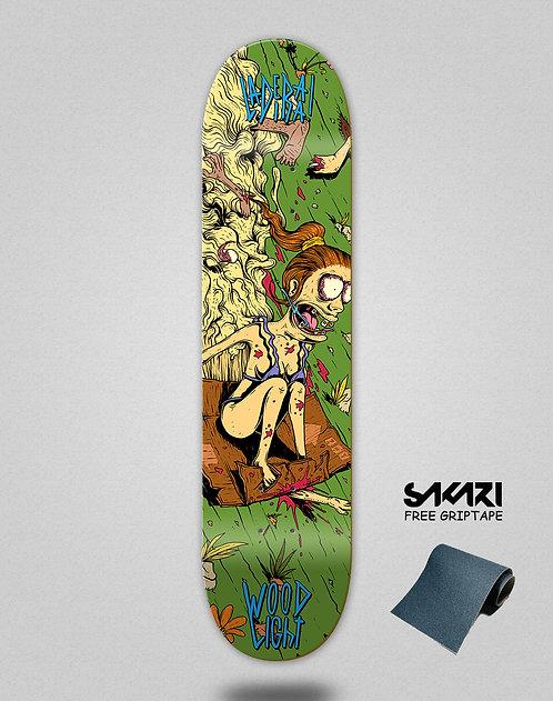 Wood light skate deck Ladeira series Alice