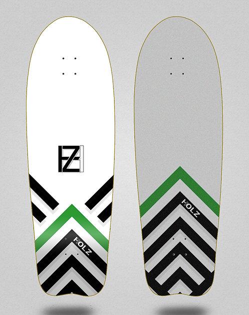 Holz surfskate deck Gram BK Akira white 31 fish