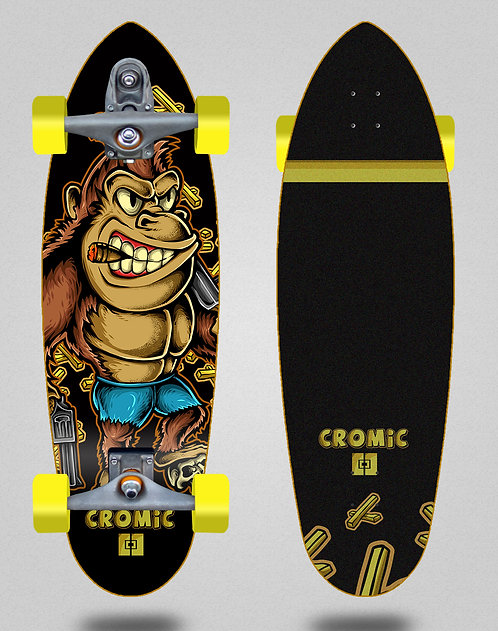 Cromic surfskate T12 trucks Donkey crazy food 32.5 deep