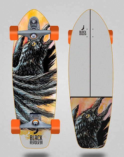 Black Revolver surfskate T12 trucks Acril Cuervo 31