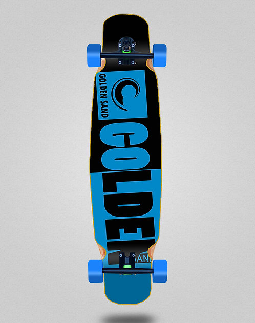 Golden Sand Degraded tone black blue longboard dance complete 46x9