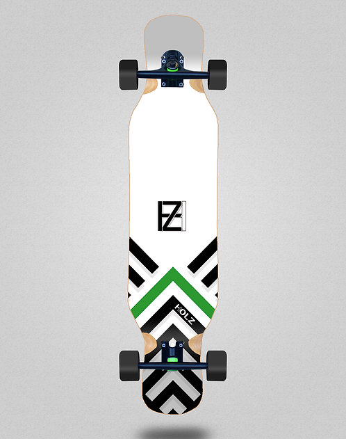 Holz Gram BW Akira white longboard complete 46x10