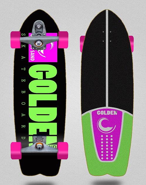 Golden Sand surfskate T12 trucks icon black pink green 29 fish