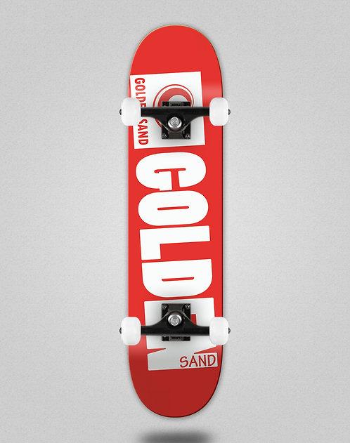Golden Sand Degraded red white skate complete