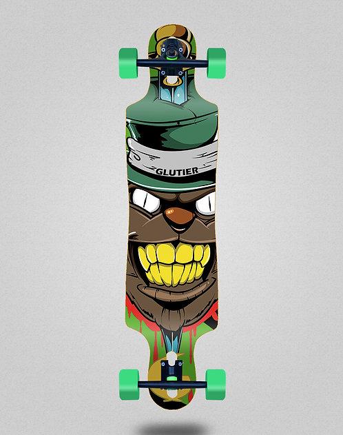 Glutier Gr cat green longboard complete 40x9
