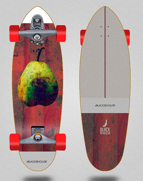Black Revolver surfskate T12 trucks Rotten fruit 2 32.5