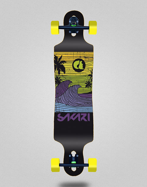 Sakari Cali dream yellow longboard complete 40x9