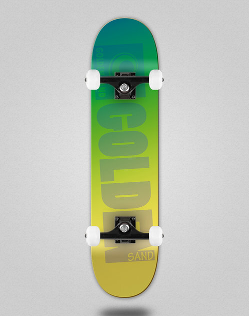 Golden Sand Degraded green yellow skate complete