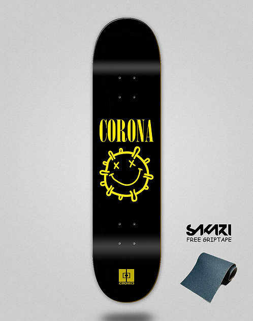 Cromic Covid Corona skate deck
