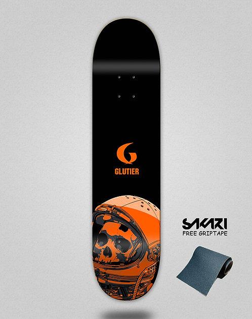 Glutier Space mirror orange skate deck