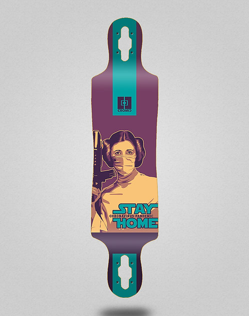 Cromic Covid Stay home longboard deck 40x9