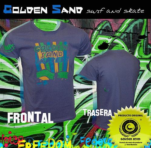 Golden Sand. T-shirt Skate city purple