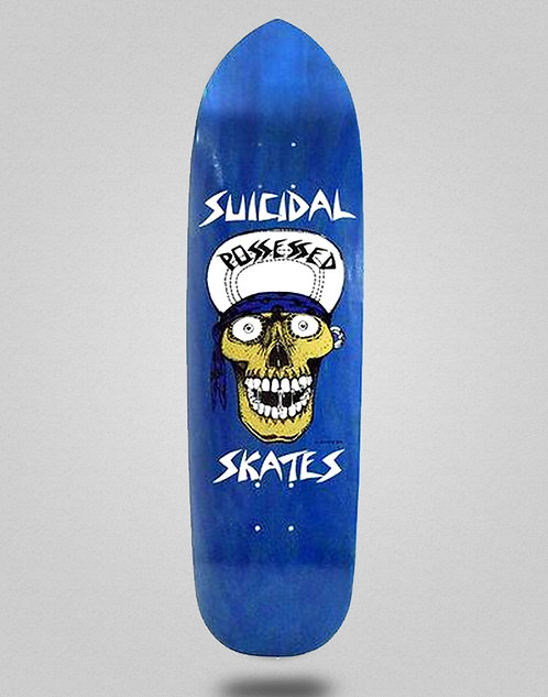 Suicidal skates punk pint skull deck 8.75x32.875 blue