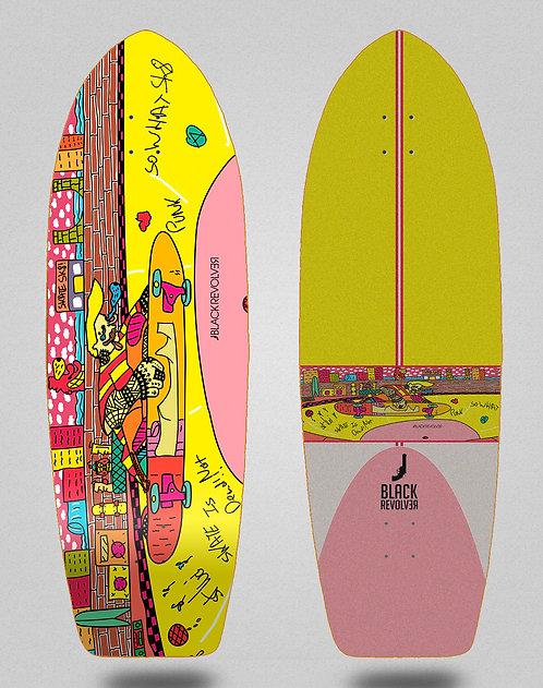 Black Revolver surfskate deck BR x Zib Lahat 29