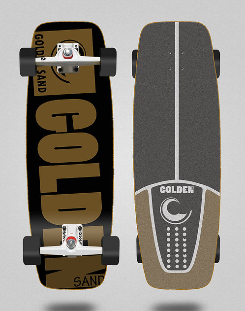 Golden Sand surfskate SGI Degraded blk brwn 27.25