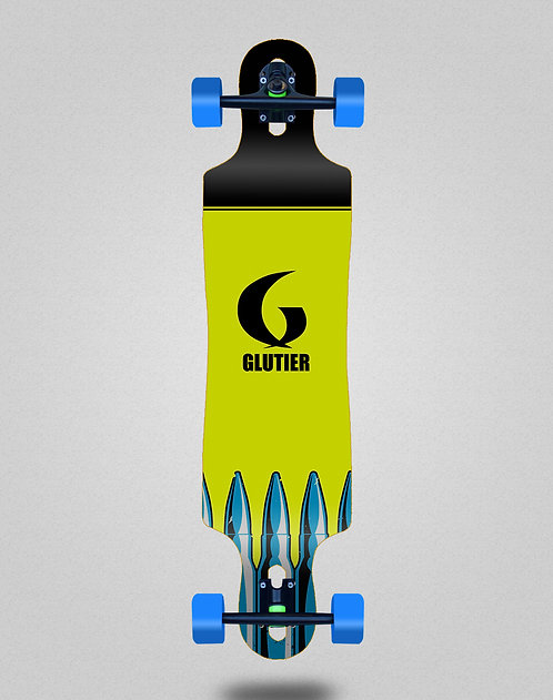 Glutier Bullets fluor longboard complete 40x9