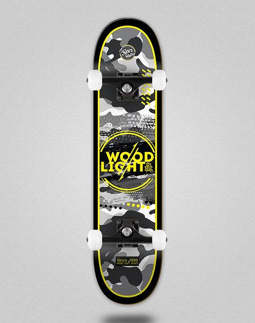 Wood light Camo black yellow skate complete