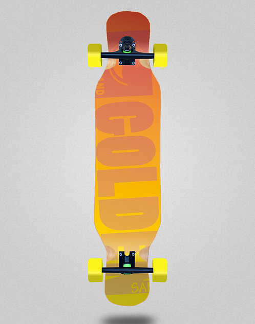 Golden Sand Degraded red yellow longboard complete 46x10