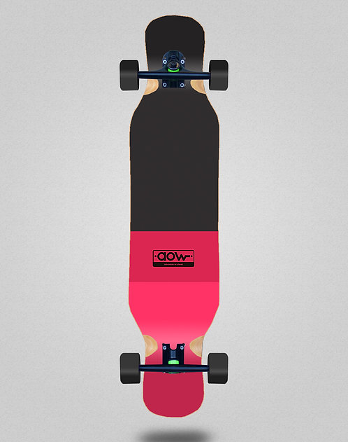 Aow Fastskate classic red longboard complete 46x10