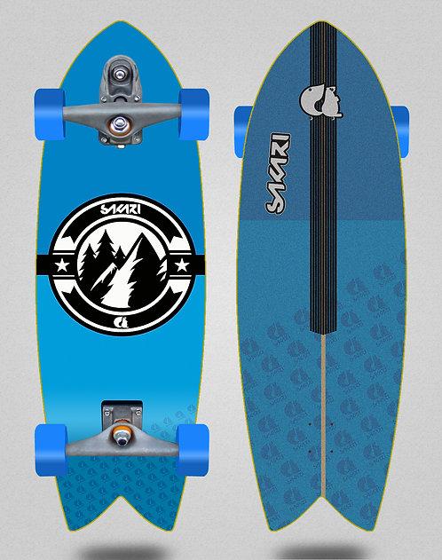 Sakari surfskate T12 Downhill juice blue 32 fish