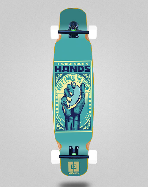 Cromic Covid Wash your hands longboard dance complete 46x9