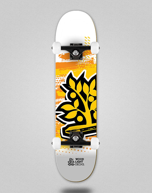 Wood light Graphic icon white skate complete