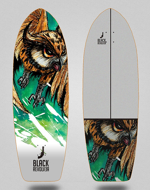 Black Revolver surfskate deck Acril buho 29
