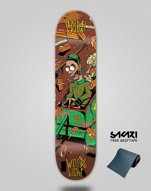 Wood light skate deck Ladeira series Ortiz