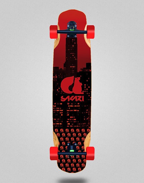 Sakari City red longboard complete 38x8.45