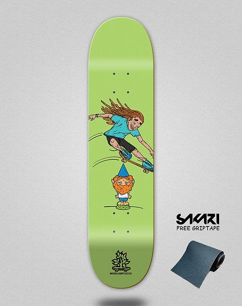 Wood light skate deck Forall green