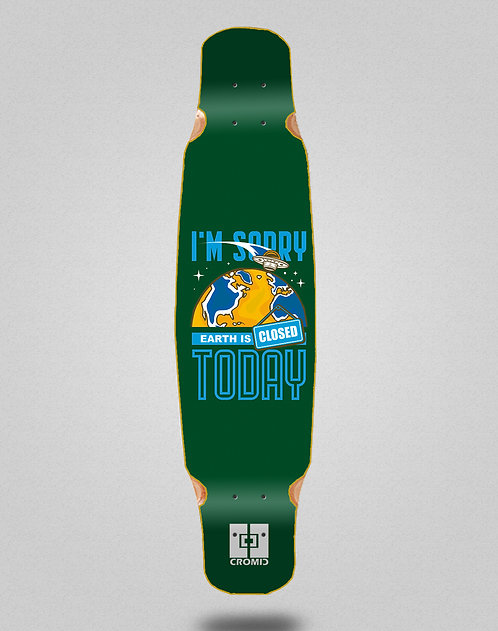 Cromic Covid Earth green longboard deck dance 46x9