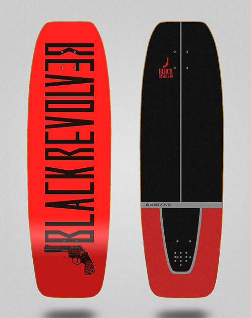 Black Revolver surfskate deck Color red 31.5