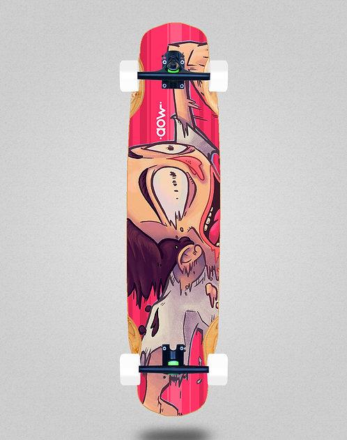 Aow Fastskate red longboard complete 38x8.45