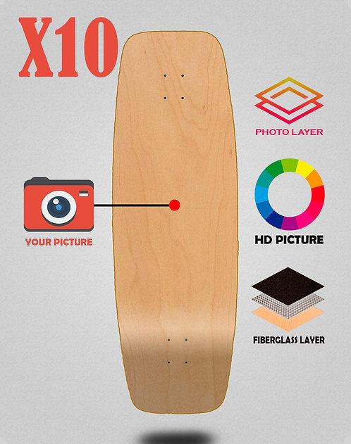 Personalizador surfskate deck 27.25 X10 unidades