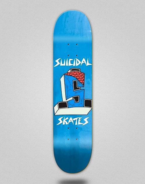 Suicidal Street Cross logo 8.0x31.575 blue flake